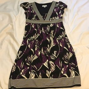 Ann Taylor Loft Size 2 Black & Purple Dress